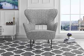 century modern linen fabric accent armchair with living room styles 914atgs kel sl1500 shelter style chair light grey kitchen dining antique names mixing