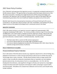Bioutah Public Policy Matrix - Bioutah, Ut