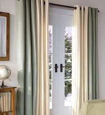 image of colored curtains sliding glass door