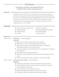 Culinary Resume Templates Culinary Resume Templates shalomhouseus 1
