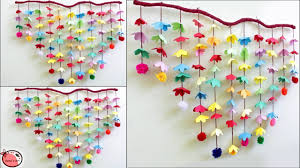 amazing wall decoration idea wall hanging making at home paper flower wall hanging trendy posts