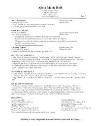 Graduate School Resume Example Graduate School Admissions Resume