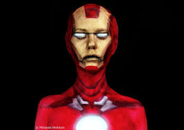 iron man face paint makeup artist insram crisyh swedish artist transforms herself into marvel characters dorkly post