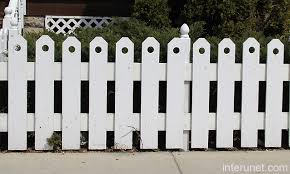 Low painted white wood fence picture interunet