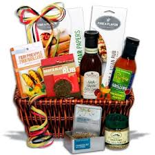 beat the heat with this amazing bo gift basket a great gift for that special griller in your life yourself and a special basket for the kids to keep