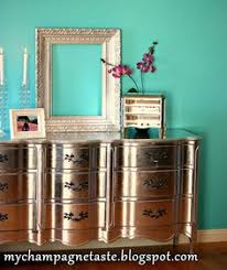diy metallic furniture. this upcycled silver leaf dresser has some serious bling it was a diy projectthis is the same shape of set you have for your room diy metallic furniture d