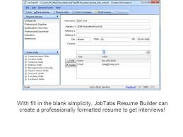 JobTabs Free Resume Builder - Download Free with Screenshots and .