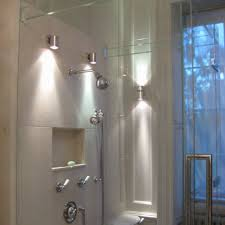 wall lights for bathroom shower with brushed nickel sconces large size bathroom shower lighting ideas
