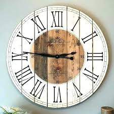 inch wall clock rustic within farmhouse by inspirations clocks outdoor image of large hobby lobby 48