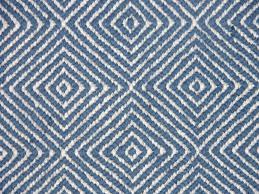 soft sisal rug in blue and white diamond pattern for modern living room ideas