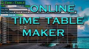 Time Table Creator Online Timetable Maker Java Servlet Jayyessun Youtube