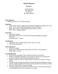 childcare provider resume example resume for childcare