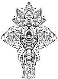 Tranh tô màu con voi đẹp - Edu Learn Tip