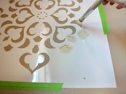 fullsize of compelling ideas design decorative wall stencils how to stencil a focal paint using