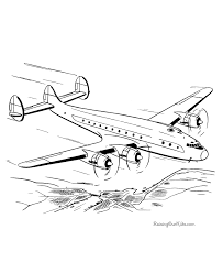 Small Picture Coloring Pages of Airplanes