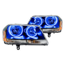 2008 Dodge Avenger Fog Light Bulb Oracle Lighting Black Factory Style Headlights With Color Halo
