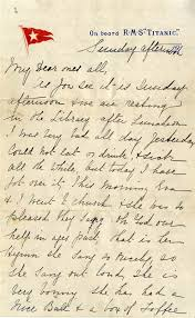 best letters titanic images titanic history rare titanic letter describing wonderful journey is auctioned to american bidder