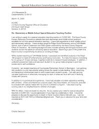 Cover Letter Special Education Teacher Position Adriangatton Com