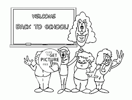 Small Picture Welcome Back to School coloring page for kids school coloring
