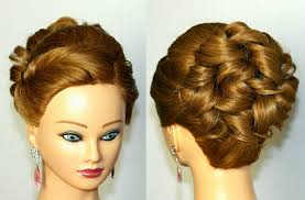 Prom Hairstyle For Medium Long Hair Curly Updo Tutorial Youtube
