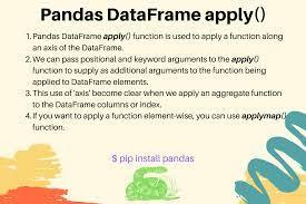 pandas dataframe apply exles