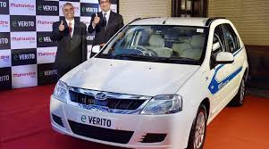 new car launches by mahindraMahindra launches its first electric sedan eVerito  The Indian