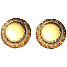 art deco clip on earrings bohemian