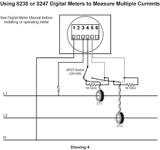 switching inputs to digital meters part ii blue sea systems please review installation manual regarding determining the polarity of the ct when using model 8247 drawing 4 illustrates this switching arrangement