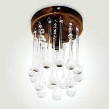 nurray clear glass teardrop single light flush mount antique brass canopy