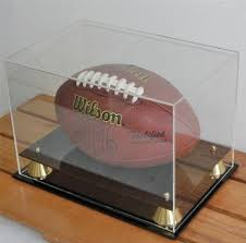 Football Display Stands Best Football Display Case Holder With 32% UV Protection Acrylic Cover