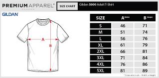 Gildan 5000 Size Chart Gildan Ultra Cotton Size Chart Cm Best Picture Of Chart
