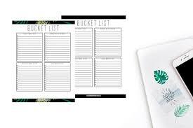 Bucket List Printable Template Bucket List Bucket List Template To Do List Instant Download Travel List Things To Do Bucket List Printable Bucket List Form