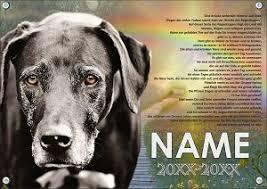 Gedenkschild Für Den Eigenen Hund Selbst Gestalten Hunde Trauertafel