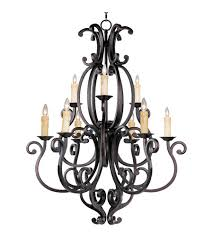 maxim 31006cu richmond 9 light 38 inch colonial umber multi tier chandelier ceiling light in without crystals without shade
