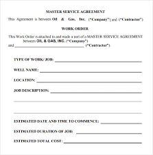 simple contract for services template master service agreement 15 download free documents in pdf word