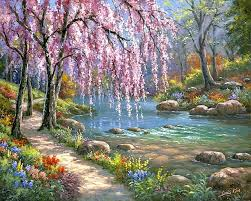frameless diy landscape painting by numbers picture oil painting set on canvas for wall decor 4050
