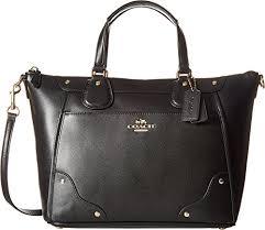 COACH Women s Grain Leather Mickie Satchel Im Black One Size by Coach