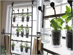 how to make an indoor herb garden. Create A Hanging Herb Garden On Each Window With Hooks, Drinking Glasses And Metal Wire. How To Make An Indoor