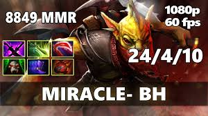 miracle pro bounty hunter 8849 mmr ranked gameplay dota 2 youtube