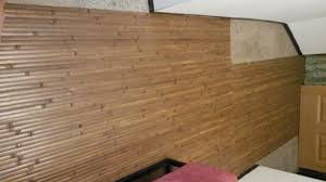 bamboo paneling over carpet