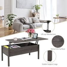 Certain designs can provide a light layer of security for the items you place inside. Homcom 39 Modern Lift Top Coffee Table Desk With Hidden Storage Compartment For Living Room Light Grey Woodgrain Overstock 17966889