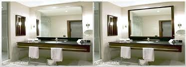 Add Frame To Bathroom Mirror Diy Frame Around Bathroom Mirror