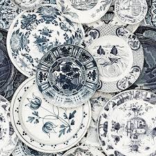 Mind The Gap Delftware Behang Delftsblauwe Borden Behang Luxury