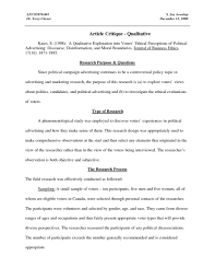 001 Nursing Research Critique Paper Example Museumlegs