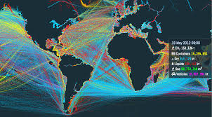 International Shipping Chart This Is An Incredible Visualization Of The Worlds Shipping