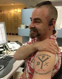 coop s scoop jaime kirk an administrative assistant at kaiser permanente dental lab in portland oregon his pirate crew tattoo is for simply his love of pirates