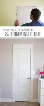 Tips & Ideas: How To Install A Prehung Door | Pre Hinged Interior ...