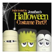 Spooky Monster Friends Halloween Costume Party Square Paper