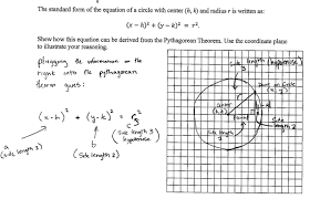 derive the circle general points students are given the coordinates of the center h k and the