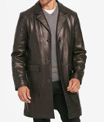 mens three on black leather blazer jacket